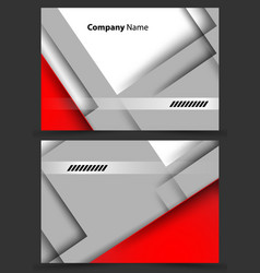 Corporate cards templates vector
