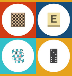 flat icon games set of chess table multiplayer vector image vector image