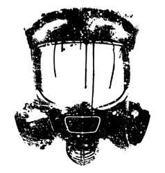 gas mask splash effect vector image vector image