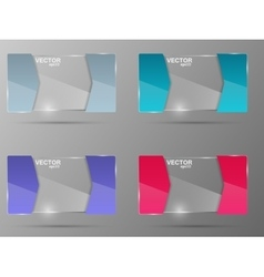 Glass banner set Design template vector image vector image