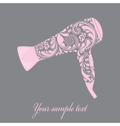Hairdryer made from leaf pattern vector image vector image