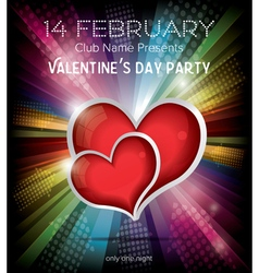 Happy Valentines Day Party Flyer Design Template vector image vector image
