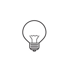 lightbulb line icon lamp outline logo vector image vector image