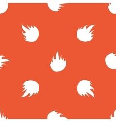 Orange fire pattern vector image