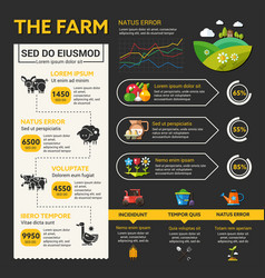 Organic farming infographic template and vector