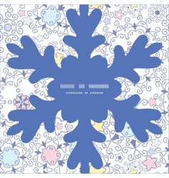 Ornamental abstract swirls christmas snowflake vector