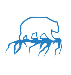 Polar bear and global warming logo vector