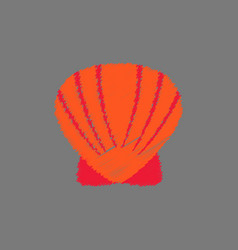 Scallop sea shell sketch style realistic vector