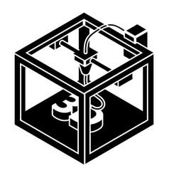 three d printer icon simple style vector image