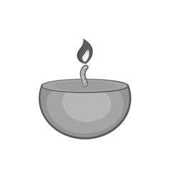 Candle icon black monochrome style vector