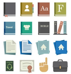 School Work Icons vector image