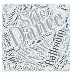 Types of ballroom dancing word cloud concept vector