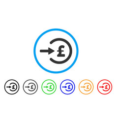 Pound income rounded icon vector