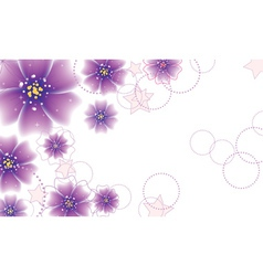 Purple flowers design vector
