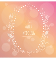 Hand drawn wedding invitation vector
