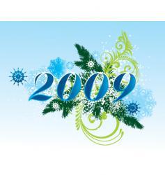 nye 2009 vector image