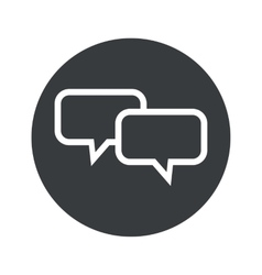 Monochrome round chat icon vector