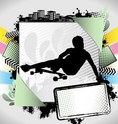 longboarder summer frame vector image