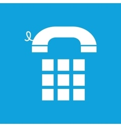 Simple phone keypad blue icon vector