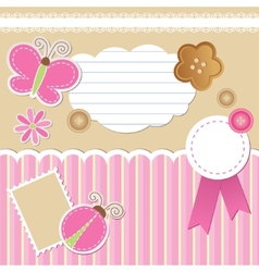 set of scrapbook elements vector image