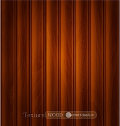 Wood background texture of dark brown wooden plank vector