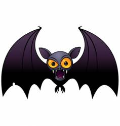 Halloween vampire bat vector