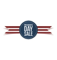 Presidents day sale text on blue label vector