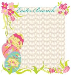 easter brunch invitation party vector image