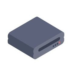 Computer drive isometric icon vector