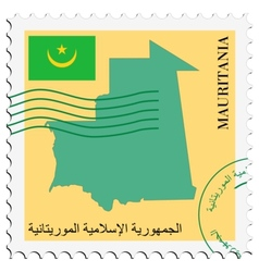 Mail to-from mauritania vector