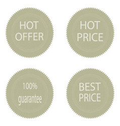 Best price and hot offer stickers for sale vector image vector image