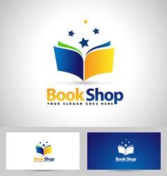 Book Logo Book Shop Icon vector image vector image