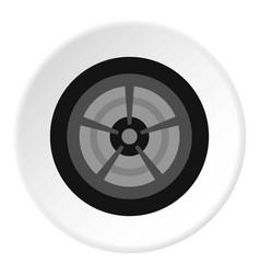 Car wheel icon circle vector