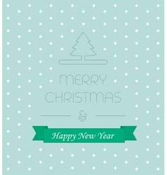 Christmass card with elegant text new year ribbon vector image