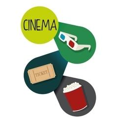 Cinema icons design vector image vector image