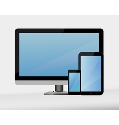 computer technology display vector image