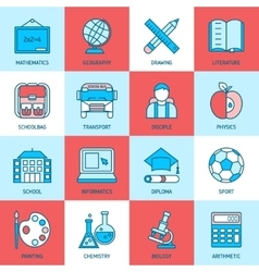 Education linear icons vector