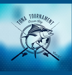 Fishing labels badges emblems and design vector
