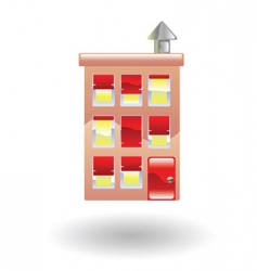 flats accommodation vector image vector image