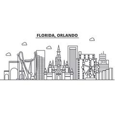 Florida orlando architecture line skyline vector