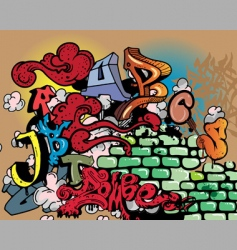 graffiti elements vector image vector image