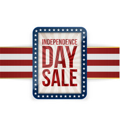 independence day sale patriotic greeting card vector image vector image