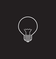 Lightbulb line icon lamp outline logo vector