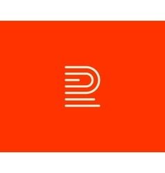 Line letter f logotype Abstract moving airy logo vector image