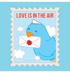 Love is in the air valentines day postcard vector