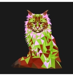 Low poly cat Triangle polygonal stile siamese vector image vector image