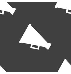 Megaphone Loud-hailer web icon flat design vector image