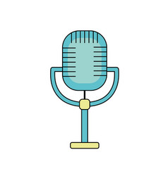 Microphone to sing music in the performance vector