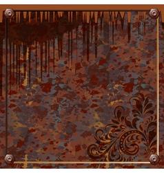 plate of rusty metal vector image