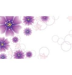 Purple flowers design vector image